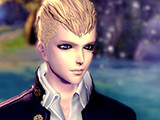 五官立体的帅气男生 蓝色水眸般的王子