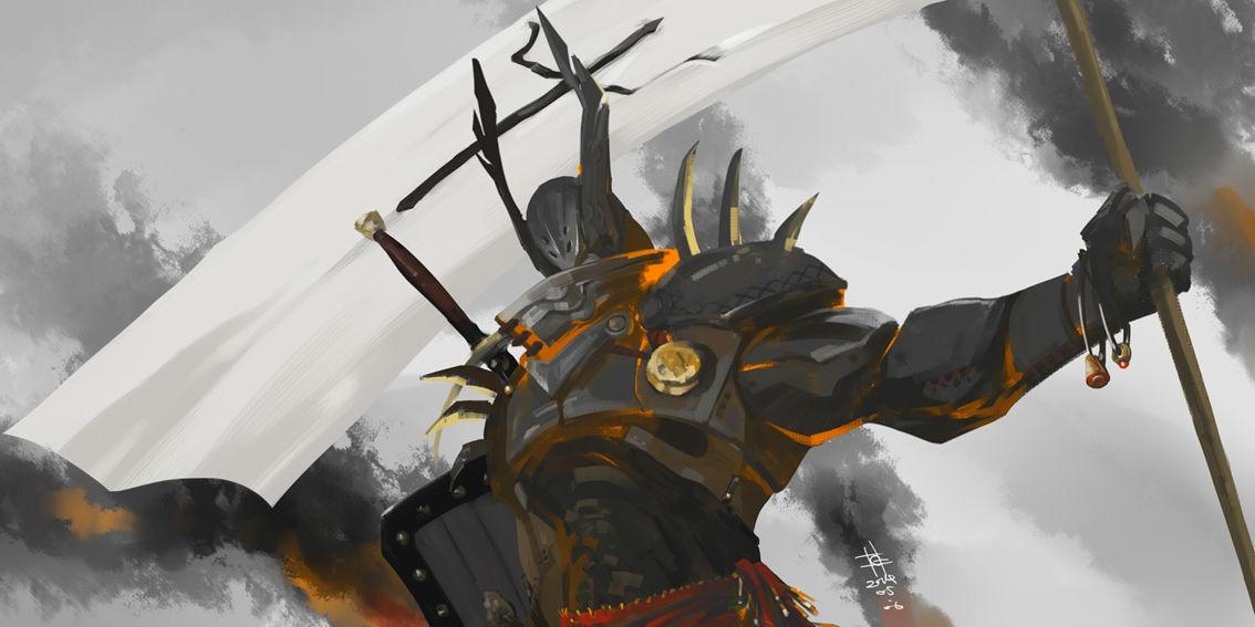 暗黑3玩家作品:圣教军自画像