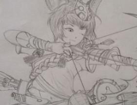图赏:斗战神玩家手绘画 猜猜这是什么武器