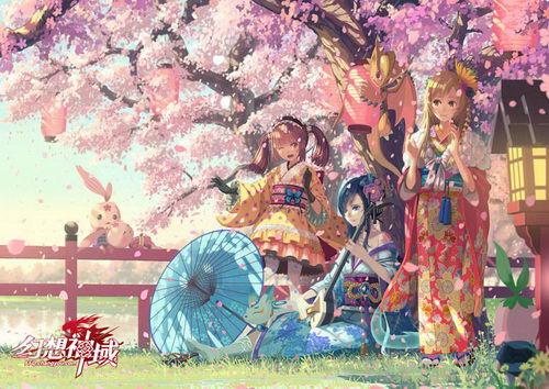 Vofan绘制《幻想神域》樱花季原画