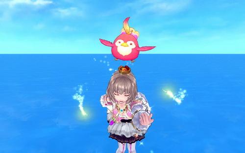 星君肥嘟嘟丸是一只粉色的呆萌小胖鸟,化身成为头饰的它,不仅会在各位