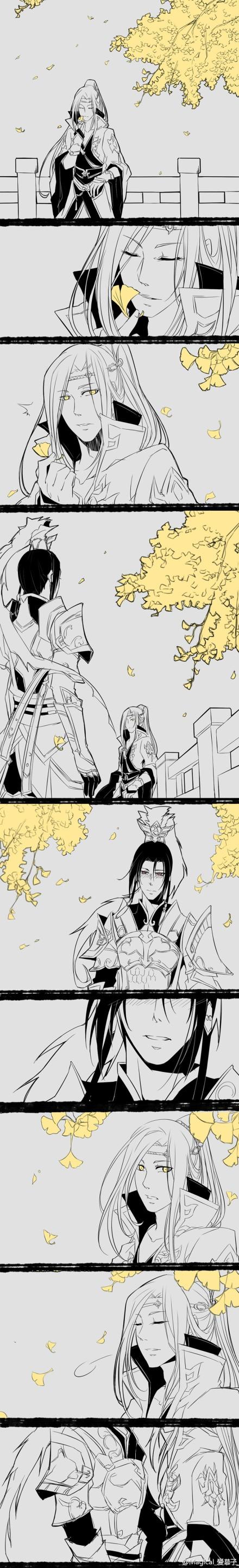 《剑网3》策藏手绘漫画 一叶落知天下秋