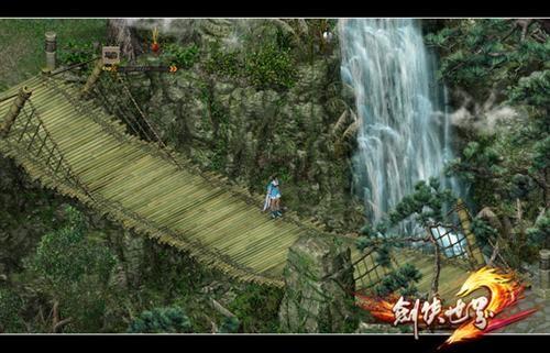 峨眉飞瀑流泉,草木茂盛-重现江湖真实场景 剑侠世界2武侠迷必去之地