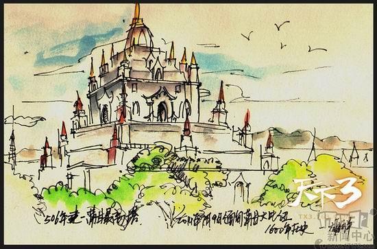 蒲甘最高的佛塔,静静的矗立在时间的长河中等待人们