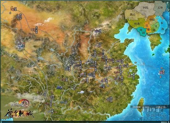 cg游戏地图