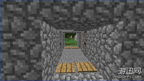 我的世界山洞隐藏门
