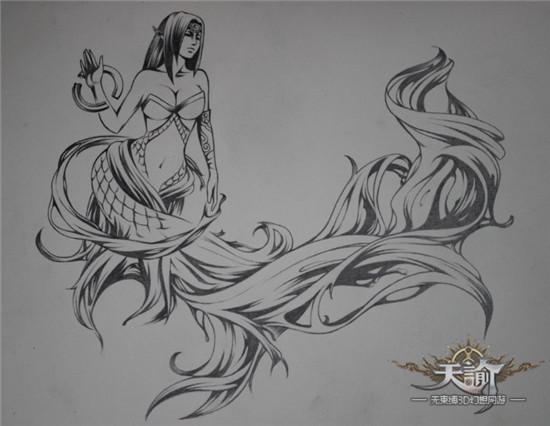 谕澜殿:苏澜女神像同人手绘