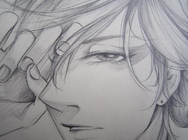 天龙八部玩家铅笔手绘:发型之绝代图片