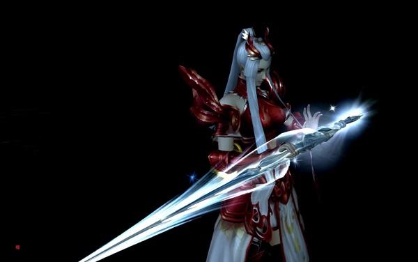 天下3女龙巫宫60战场套外观展示 配70武器