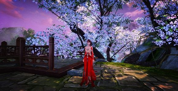 石红霓裳羽衣女装