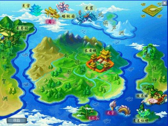 我们来对比下梦幻世界地图的布局