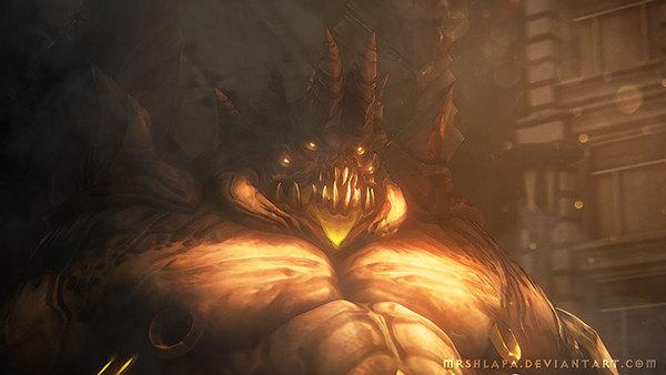 大分辨率手绘画作:罪恶之王阿兹莫丹自画像