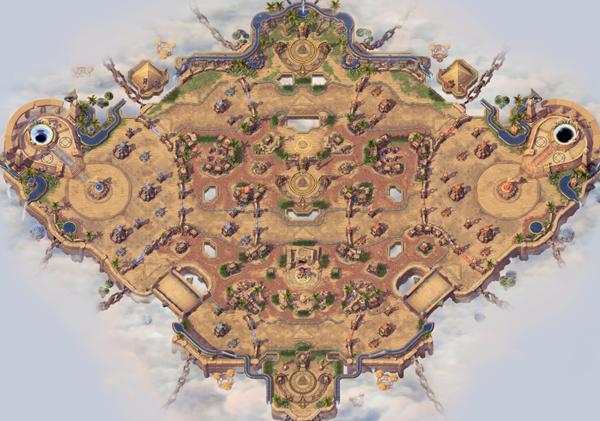 上路的了望塔可以控制上方大半地图的视野