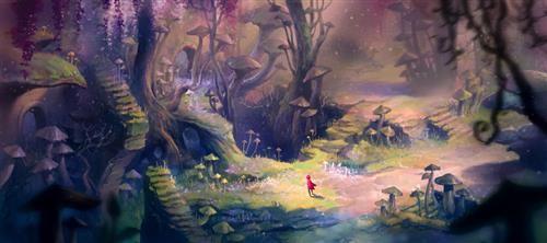 小红帽 森林简笔画