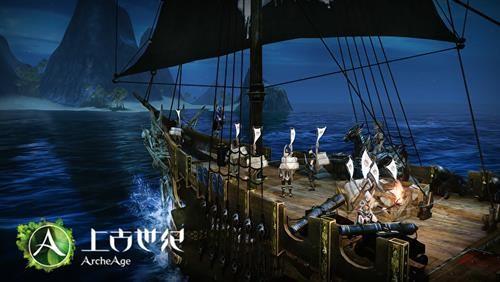 卡通船向往岛屿