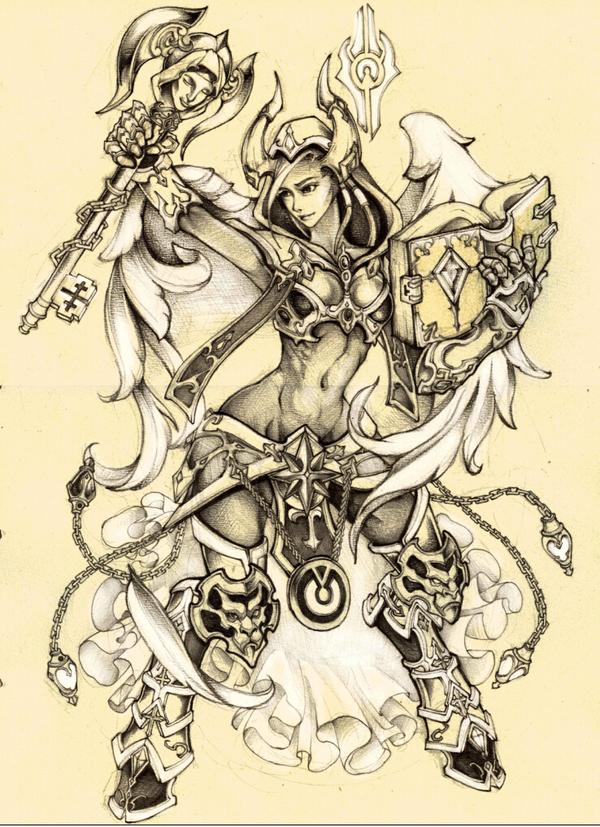 魔兽世界玩家画作:阿古斯的德莱尼牧师