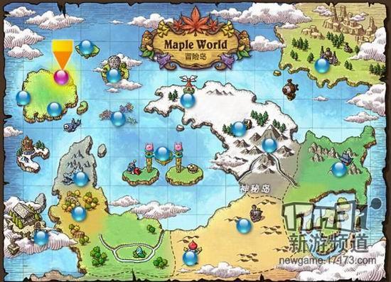 冒险岛手游的世界地图