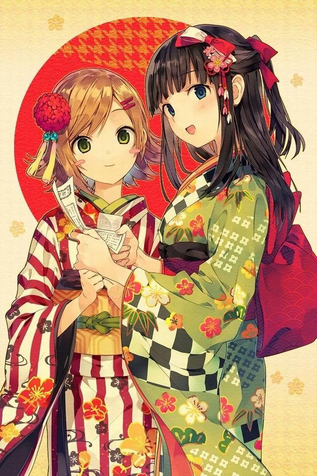 日本动漫和服美女_和服女孩动漫-可爱动漫女生-和服女孩动漫可爱-和服少女可爱 ...