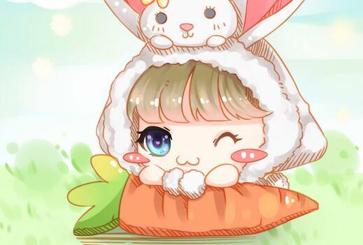 上古世纪玩家手绘 萌萌哒兔子