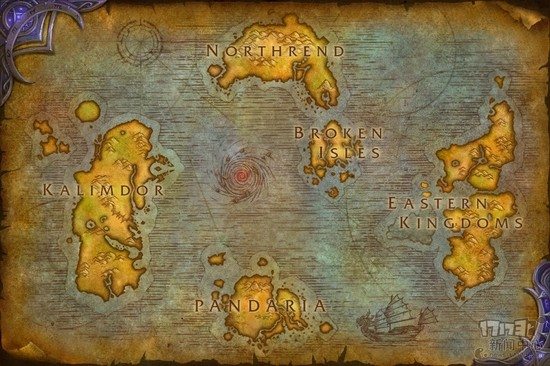 魔兽7.0最新大世界地图