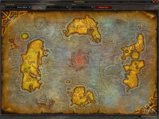 更新前的魔兽大世界地图