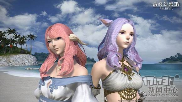 女生们在ff14 3.1中又多了许多发型选择图片