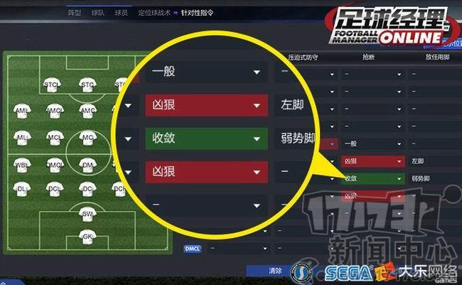 足球后腰位置图解