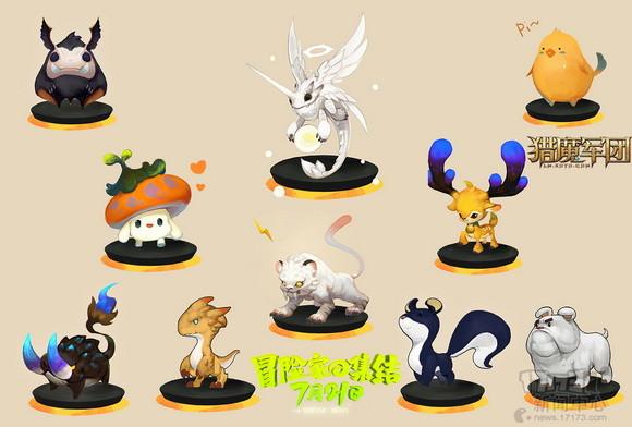 由韩国原画大神Meket007亲自操刀的宠物原画,被高度还原至游戏中。并由此开发了宠物的装备系统,每个宠物都有三个部位的可穿戴可显示的装备栏。所有的装备都可以为宠物带来属性的提升,至于品质,就需要靠玩家们自己动手打造咯~!