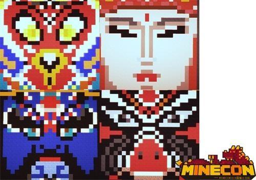 资深匠人进行制作,面具上的悟空,八戒,沙僧与唐僧四人的方块化脸谱,则