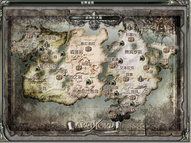 霸王大陆世界地图
