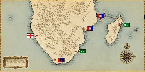大航海时代: 2区1服北海,地中海,非洲势力分布图