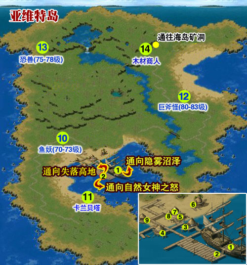 亚维特岛地图