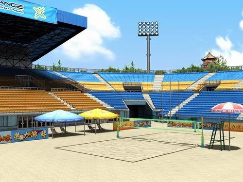 热力排球比赛场地 17173新网游频道 17173.com中国游戏第