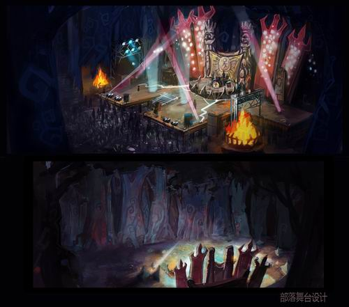 欧式游戏场室内景原画