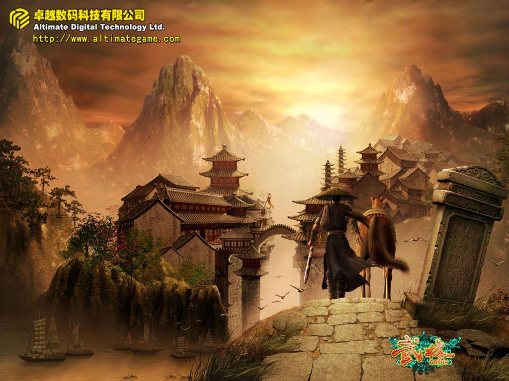 游戏资讯_《武林online》唯美写实场景与人物欣赏_网络游戏新闻