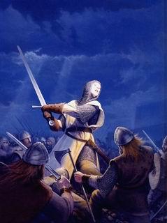 中世纪欧洲士兵捍卫国家领土浴血奋战图片