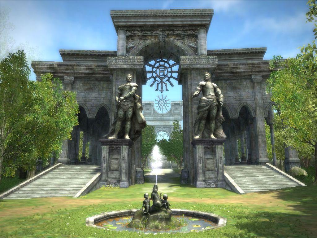 欧式城门雕像