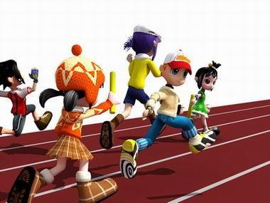 学生 跑步 图片 n 我 校 健儿 参加 大 朗 镇 小 学生 ...