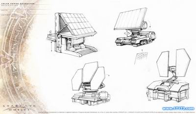 科幻网游《星门世界》建筑新图&概念画图片