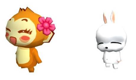 头饰10件   新增5个新宠物形象:悠嘻猴(母),公狼,母狼,狮子,流氓兔