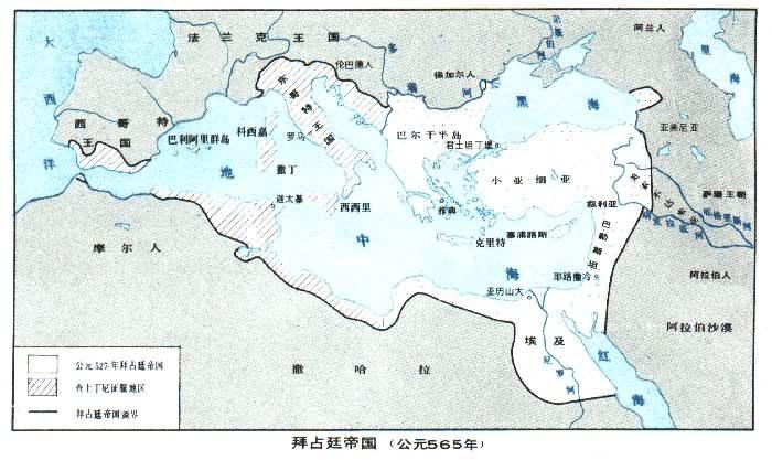 中世纪地中海地图