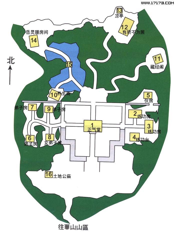 西岳华山景区平面图