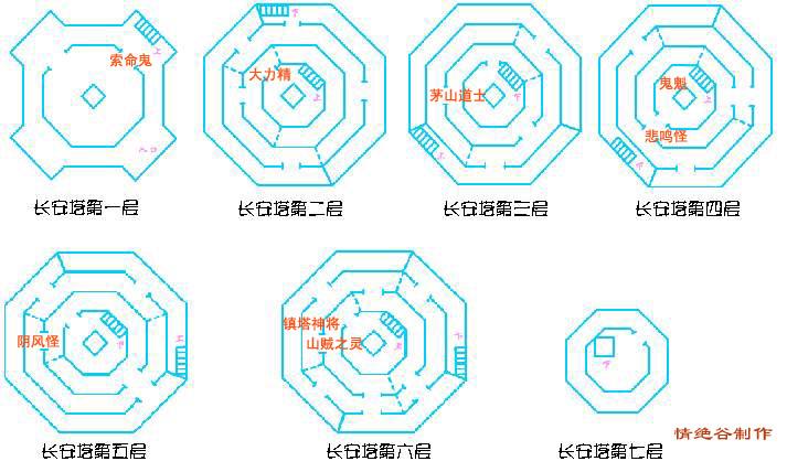 大话2之大雁塔层图