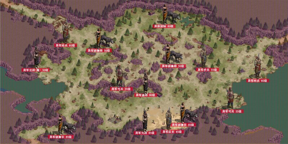 征途怀旧版:17173网络游戏专区--怪物分布地图